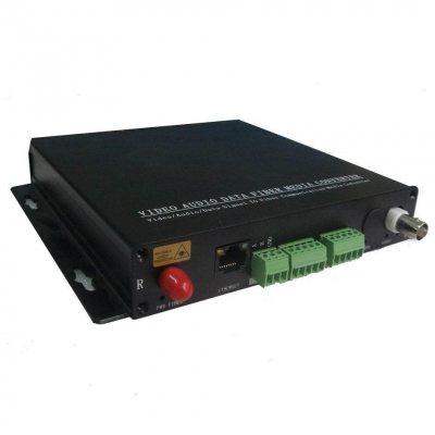 Fiber Optic Transceiver to Video/RS485/232/422 and Dry Contact