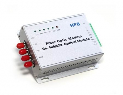 RS-485(Modbus) Multi-Drop Bus Self-Healing Ring Fiber Optic Converter